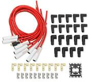 Mallory Spark Plug Wire Set 938c Psw Ceramic Boot 8.0mm Red Spiral Wound For V8