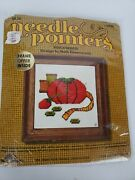 New Vintage Sunset Needlepoint Tomato Pin Cushion Embroidery Sewing Crewel Kit