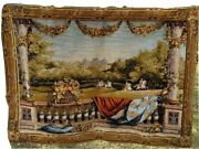Goblys Large Art Tapestry Wall Hanging Wool Woven 4' X 5' France Excellent