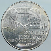 1979 Austria Inn District Buildings Vintage Old Silver 100 Schilling Coin I90090
