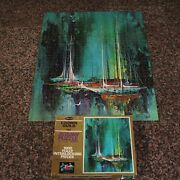 Vtg Whitman Shelter Cove 1000 Pieces Jigsaw Puzzle Crown Guild 21.5 X 27.5 Ships