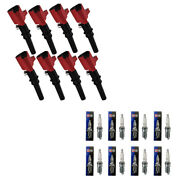 Dg508 High Voltage Ignition Coils + Champion Spark Plugs For Ford E150 F450 V8