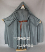 Lord Of The Rings Gandalf Cosplay Costume Robe The Hobbit Adult Wizard Cloak Hat