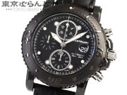 Sport Chronograph 104279 Menand039s Stainless Steel Leather Auto [e0407]