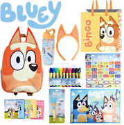 Bluey - Bingo Full Size Backpack Tote Bag 48 Stickers Card Game 10 Markers +