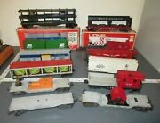Vintage Lionel Postwar Lot Of Rolling Stock Train Cars And Cabooses