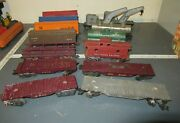 Vintage Marx Lot Of Rolling Stock Train Cars And Caboose