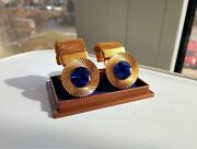 Vintage Collectible Cufflinks Of The Soviet Union. A Native Box. Gilding. Ussr