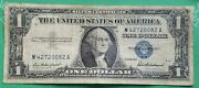 1957 Blue Seal 1 One Dollar Silver Certificate Bill Old Paper Money Usa Note