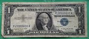1957 A Blue Seal 1 One Dollar Silver Certificate Bill Old Paper Money Usa Note