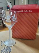 New Avon Gift Collection Hummingbird Crystal Goblets One Pair New