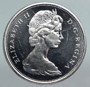 1965 Canada Queen Elizabeth Ii Arms Crown Pf-like Silver 50 Cents Coin I90194