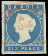 Gambia Scott 4 Variety Gibbons 8w Used Stamp
