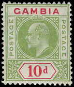 Gambia Scott 57 Variety Gibbons 80a Mint Stamp