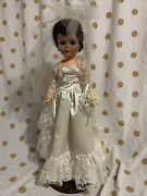 Vintage 1958 Deluxe Reading Doll Sweet Janie Shoes 24 Beautiful Bride W/stand