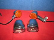 Vintage Motorcycle Parts, Speedometer, Tach, Turn Signals Chrome