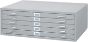 Safco Products Flat File For 48w X 36d Documents 5-drawer Additional Options