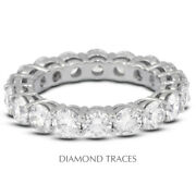 2 1/2 Carat H Si2 Round Cut Natural Certified Diamonds 14k Gold Eternity Ring