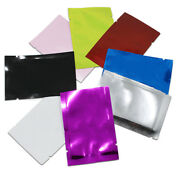 100x Open Top Aluminum Foil Bag Mylar Food Storage Bag Colorful Heat Seal Vacuum