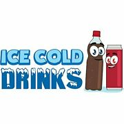 Ice Cold Drinks 3 36 Concession Decal Sign Cart Trailer Stand Sticker Equipment