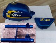 Honda Z50 Ak5 Gas Tank Side Cover And Fork Candy Sapphire Blue