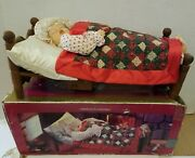 Vintage Christmas Animated Sleeping Mrs Santa Claus With Sound Bed Snores