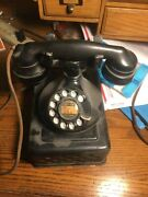 Antique Western Electric 102 B-1 Desk Tele And E-1 Receiver -clickety Clack Dial