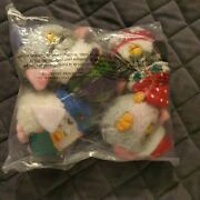 Set Of 4 Furby Christmas Ornaments New Factory Sealed 1999 Vintage Plush