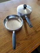 """Wearever Aluminum Inner-clad Plus Stainless R-958 8"""" Skillet And 2qt Pan With Lid"""