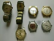 Group Of 7 Vintage Watches Grab Bag Speculation Lot As Is Collector Estate 5.