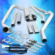 For 04-08 Ford F150 4.6 5.4 V8 Catback Exhaust 3.5 Dual Muffler Tip 65mm Piping