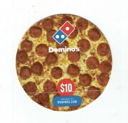 Dominos Gift Card - Die-cut Pepperoni Pizza Restaurant - No Value I Combine