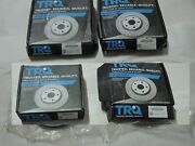 Trq New Front And Rear Disc Brake Rotors Set Of 4