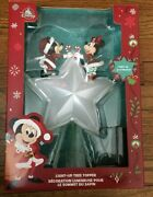 Disney Mickey And Minnie Mouse Light Up Christmas Holiday Tree Topper