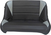 Bs Sands Black And Grey Rear Bench Seat For 2018+ Mahindra Roxor Models Roxorrbgy