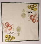 Williams Sonoma 12 Days Of Christmas Cloth Cotton Napkins 20x20 - 5th Day Only