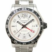 Longines Sports Admiral Gmt L3.668.4.76.6 Self-winding Ss Menand039s Watch [b0409]