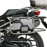 4.2l Stainless Tool Box For Bmw R1200gs Adv R1250gs Left Side Bracket 2004-2019