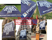 Milwaukee Brewers Miller Park Used 2018 Postseason Banner Nlcs Nlds City Hall