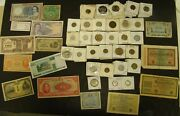 Foreign Coin And Currency Lot Over 275 Pieces Crown Size - Silver 2x2's World