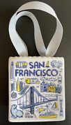 New Starbucks Been There San Francisco White Ceramic Shopping Bag Gift Card