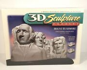3d Sculpture Puzzles Mount Rushmore Challenging Layer Puzzle New/sealed 1998