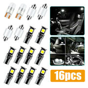 16pcs Auto Car Interior Led Lights Dome Trunk License Plate Lamp Bulbs For Bmw