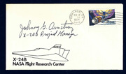 Johnny Armstrong Signed Cover Hypersonics Chief Engineer Naca Nasa