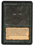 ►magic-style◄ Mtg - Word Of Command - Alpha - Played