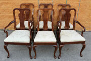 Set Of 6 Kindel Furniture Dining Chairs, Queen Anne Style
