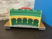2009 Thomas The Train Take N Play Tidmouth Folding Roundhouse Shed Station Track