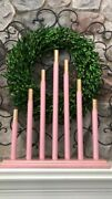 Vintage Royal Style C7 Staggered 7 Candle Candolier Fabulous 50andrsquos Pink And Gold