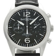 Bell And Ross Vintage Br126-94 Chronograph Automatic Black Dial Menand039s Watch U0411