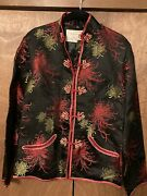 Vintage Peony Brand From Shanghai, Black, Gold, And Red Firework Jacket, Size 36